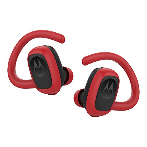 Motorola Stream Sport True Wireless Sport Earbuds with Charging Case - Red