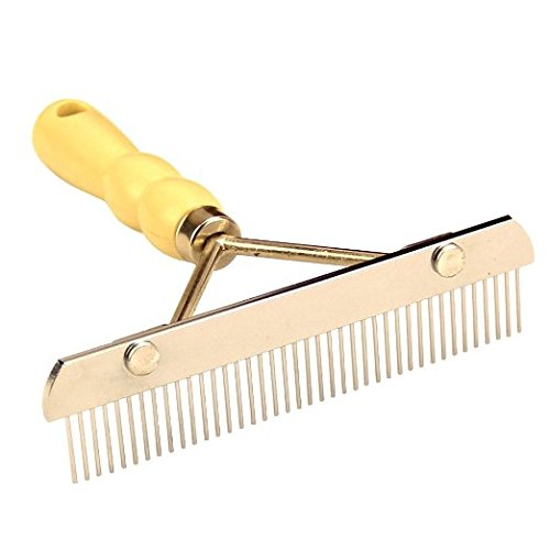 Teanfa Professional Large Dogs Hair Brush Slicker Long Short Hair Comb Rake Cleaning Grooming Dematting Detangling Pets Hair