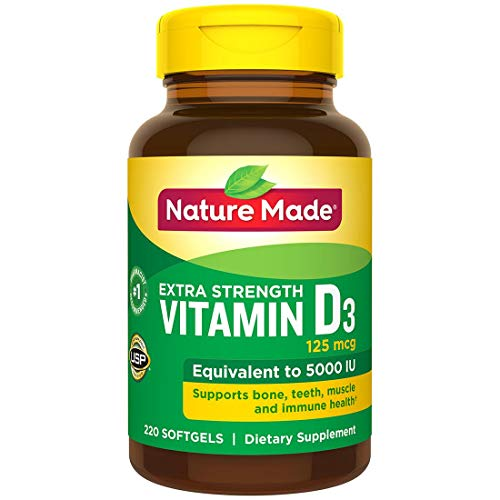 Nature Made Vitamin D-3 5000IU 220 Count Softgels (Natures Made Vitamin D)