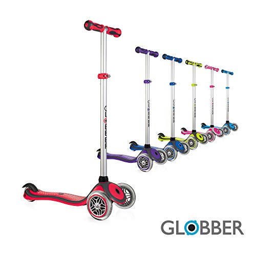 Globber 3 Wheel Adjustable Height Scooter (Red/Gray)