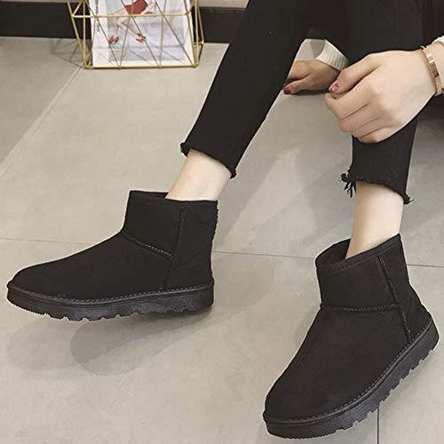 Courts Neige Femme Chaude Doublure Bottes Hiver Antidérapant Boots Noir Classique De nHUga