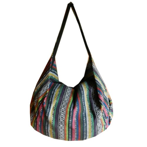 Ik29 Shoulder Hippie Woven Purse Hobo BTP Hand Bag Cotton Ikat Multicolor Backpack Handmade Handbag 6TRpOq