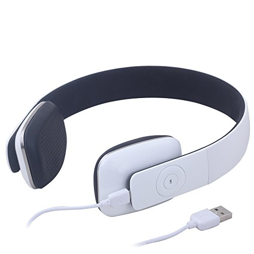 best wireless headphones august ep636 cordless bluetooth headset with microphone white. Black Bedroom Furniture Sets. Home Design Ideas