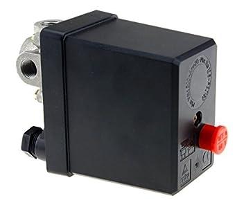 Vertikale Einlochmontage Druckschalter Luftkompressor Druckschalter Steuerventil 380V 75~175psi f/ür Luftkompressor