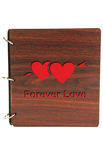 [해외]Sehaz Artworks `Forever Love` Wood Photo Album (20 cm x 22 cm x 4 cm Brown) / Sehaz Artworks `Forever Love` Wood Photo Album (20 cm x 22 cm x 4 cm, Brown)