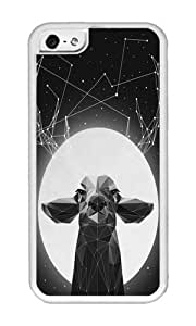 Iphone 5C Case,WENJORS Unique The Banyan Deer Soft Case Protective Shell Cell Phone Cover For Iphone 5C - TPU White