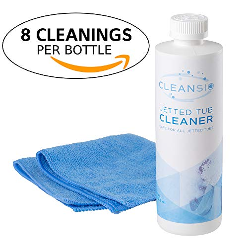 Cleansio Jetted Tub Cleaner – Professional Clean and Powerful Dirt Remover, 16oz (Includes Microfiber - Jetted Tub