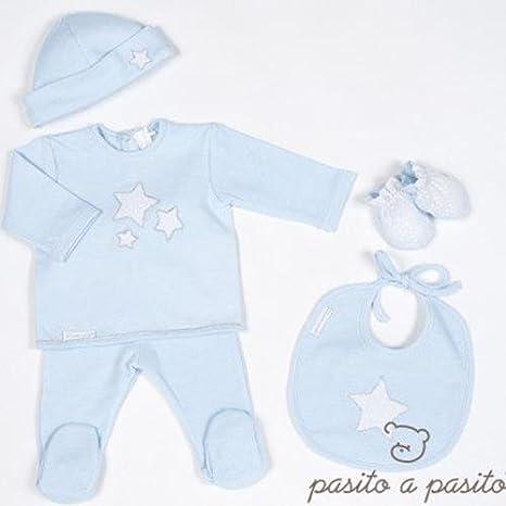 Pasitto a Pasito - Pack Primera puesta Pasito a Pasito Etoile T/0 meses azul: Amazon.es: Bebé