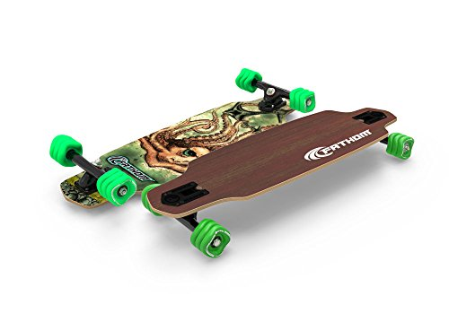 Shark Wheel Fathom Kraken Mini Drop Through Longboard Complete, Brown