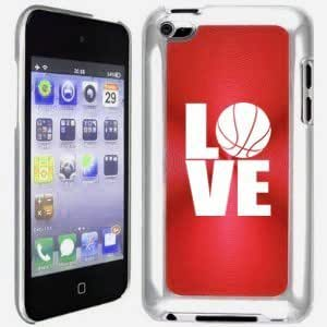 Apple iPod Touch 4 4G 4th Generation Red B1338 hard back case cover Love Basketball