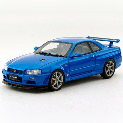 1/43 スカイライン GT-R(BNR34) VスペックII (ベイサイドブルー) K04011BL