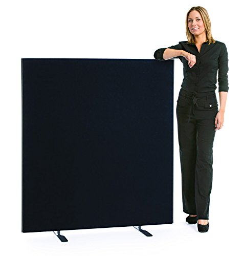 """Speedy"" Linkable Office Screen/Room Partition 1400mm High x 1800 mm wide Black XL Displays Ltd"