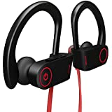 Bluetooth Headphones, Otium Best Wireless Sports Earphones w/Mic IPX7 Waterproof HD Stereo Sweatproof in-Ear Earbuds Gym Running Workout 8 Hour Battery Noise Cancelling Headsets