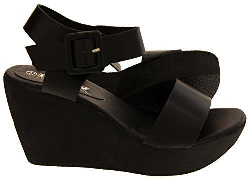 Footwear Nero Della Betsy Sandali Ecopelle Cuneo Studio Donna Piattaforma 8rqF8