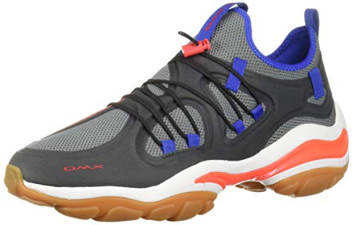 (Reebok Men's DMX Series 2000 Sneaker, True Grey/Bright Rose/Crushed Cobalt/Black, 12 M US)