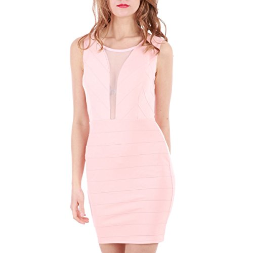 La Modeuse - Vestido - ajustado - para mujer Rose
