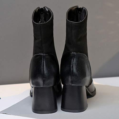 Bottes Winter EU HiTime Noir 5 36 Femme Motard Black O8qdwqZX