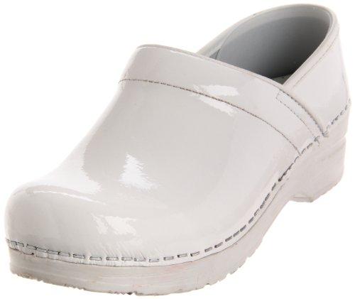 White Leather Nursing Shoes (Sanita Women's Professional Celina Clog,White Patent,40 EU/9.5-10 M US)