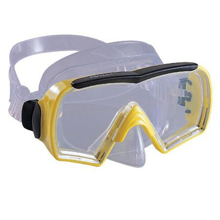 Probe Mask (Promate Probe Scuba Dive Mask, Yellow)
