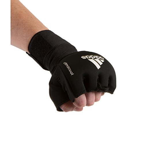 adidas Quick-Wrap Fist Guards, Black, Large
