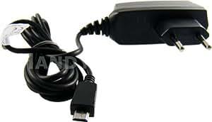 caseroxx cable cargador Samsung-Câble para Samsung SGH-L770 , Cargador de alta calidad con fuente de alimentación para cargar el móvil (cable flexible y estable en negro)