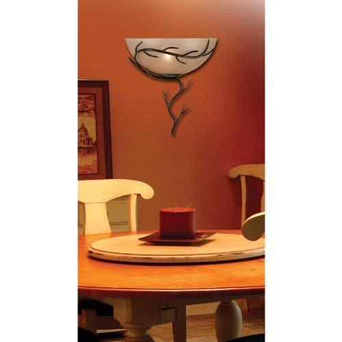 Kenroy Home 90901BRZ Twigs 1-Light Wall Sconce, Blackened Bronze Finish