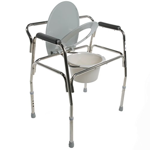 Pcp Heavy Duty Bariatric Commode Toilet with Wide Steel Frame, Chrome by PCP (Image #2)