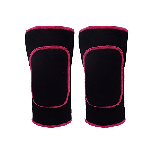 Kneepads, Knee Support, Knee Sleeves Brace Protector Pad, Paciffico Kids Breathable Thicked Crashproof Antislip Dance Cotton Knee Pads Brace Wrap tape for Kids Sport / dancing ([L]Black)