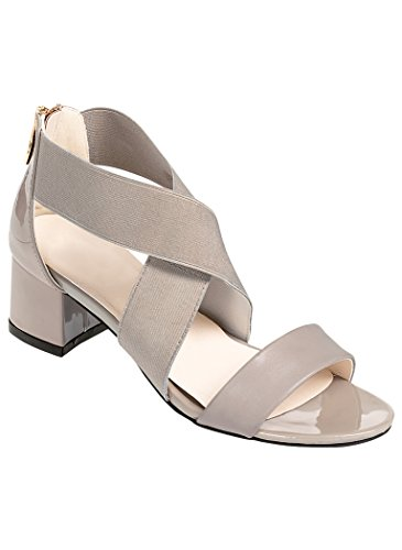 AmeriMark Women's Adult Reese 9.5 Medium US - Taupe Patent Footwear