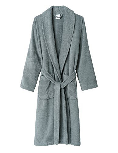 TowelSelections Men's Robe, Turkish Cotton Terry Shawl Bathrobe Medium/Large Quarry