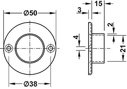 gedotec metal Armario Tubo Negro de almacenamiento Barras de Soporte para atornillar, soporte para tubo de armario armario para ovalado Barra, 10/unidades