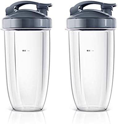 NutriBullet Magic Juicer - Vasos para licuadora con tapa abatible ...