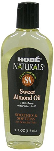Hobe Naturals Sweet Almond Oil, 4-Fluid Ounce (Pack of 3) by 3M