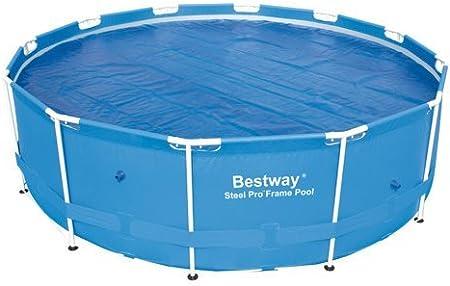 International Cover Pool Cobertor Solar Piscina Redonda Ø 4,12 m De Burbujas 600 Micras (con Orillo y Refuerzo en Todo el Contorno)