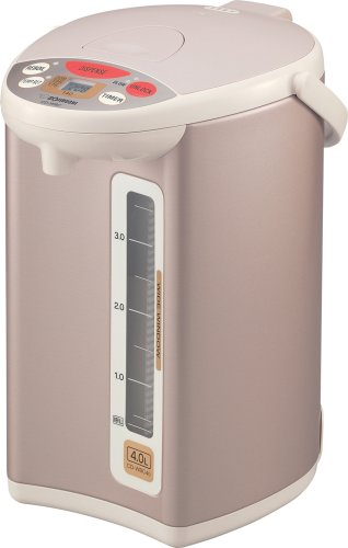 Zojirushi CD-WBC40 Micom 4-Liter Electric Water Boiler and Warmer, Champagne Gold