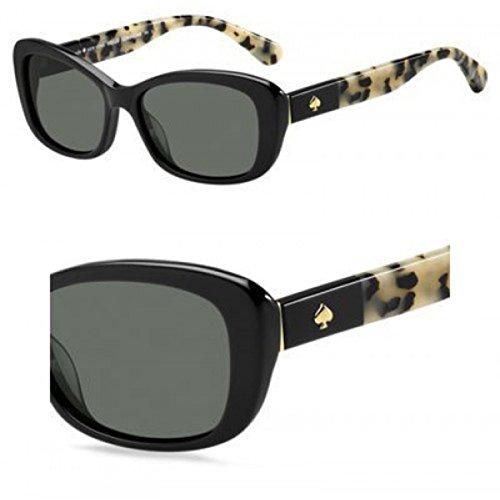 - Kate Spade Women's Claretta/p/s Polarized Rectangular Sunglasses BLACK HAVANA 53 mm