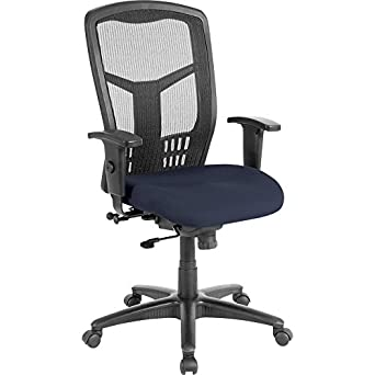 45u0026quot; High Back Fire Resistant Periwinkle Executive Chair W/Plastic  Periwinkle Blue Seat
