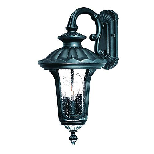 Acclaim Lighting 3852BK Augusta - Three Light Outdoor Wall Mount, Matte Black Finish with Clear Seeded Glass
