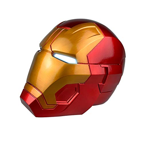 Jacos Iron Man Helmet for Kids-PVC Full Head Mask with Eyes LED Light Cosplay Toys