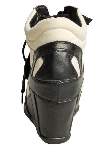 Capelli New York Damenkeilschuh Chicago White Combo