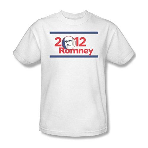 (2012 Romney - Mens T-Shirt In White, XXX-Large,)