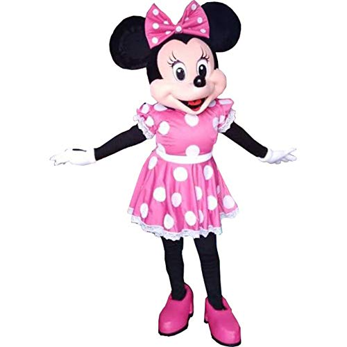 Minnie Mouse Pink Dress Mascot Costume Party Character Birthday Halloween