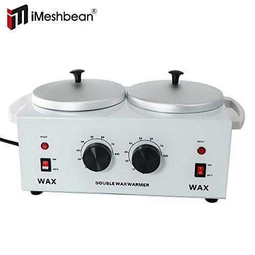 iMeshbean Professional Double Pot Wax Warmer Heater Electric Dual Pro Salon Hot Paraffin SPA Tool by i-mesh-bean