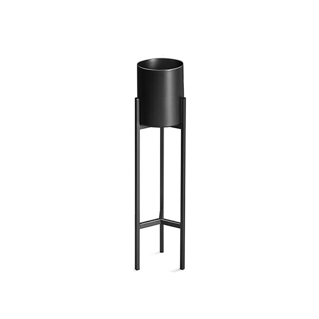 Flower Stand Vaso per Piante Cremagliera per Interno Salone Balcone Decorazione Espositore Supporto da Pavimento Supporto per fioriera da Esterno Erba Bonsai Arte del Ferro Semplice Nero