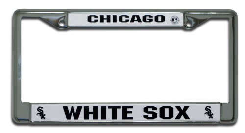 MLB Chicago White Sox Chrome License Plate Frame Chicago White Sox Car