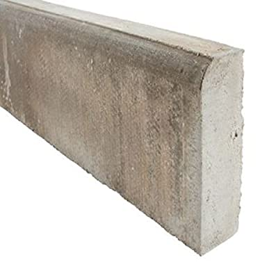 BULL NOSED CONCRETE EDGING FOR PATH, LAWN, PATIO, GARDEN AND DRIVEWAY SIZE - 50x150x915mm [FREE DELIVERY ABOVE £50] by www.crackadeal.co.uk