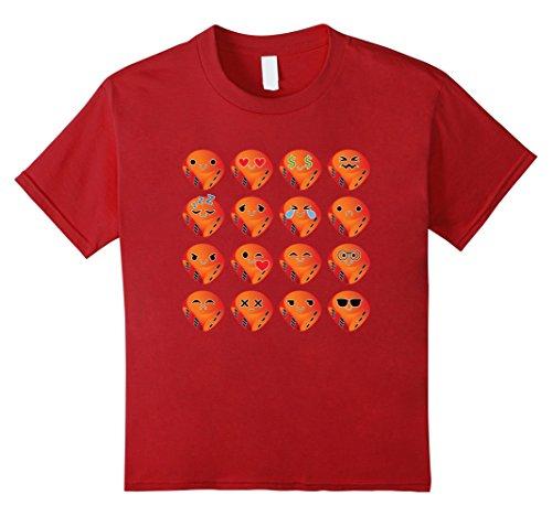Kids Dice Emoji Many Emotion Shirt Lucky Streak Roll T-Shirt Tee 8 Cranberry