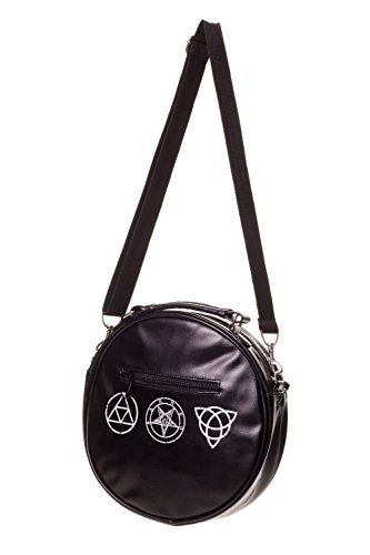 WITCHCRAFT BANNED OCCULT SKULL BEDLAM BLACK DARK GOTH ARTS BAG SIDE PENTAGRAM PPw846