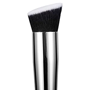Double Ended Contour Brush by Studio 5 Cosmetics. Dense - great for buffing and blending. Contouring, highlighting. Suitable for liquid and powder products.