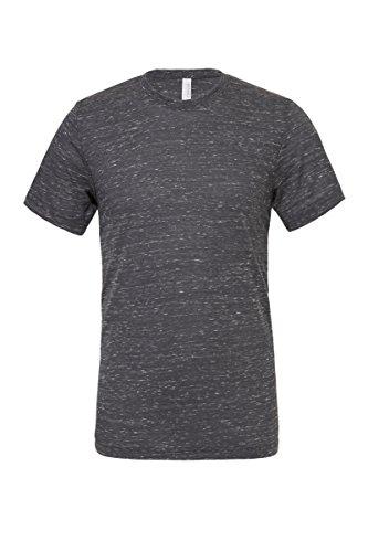 "Unisex poly-baumwolle kurzarm t-shirt (BE119) - Dunkelgrau Marmor, X-Large / 46""-49"""